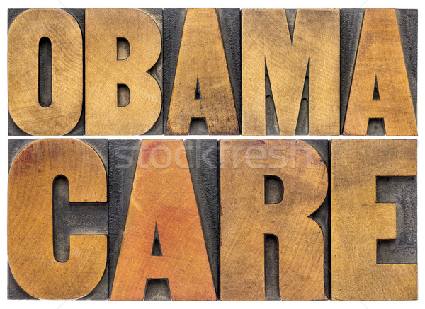 obamacare typography in wood type Stock photo © PixelsAway