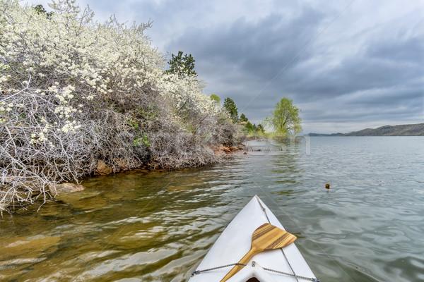 springtime canoe paddling Stock photo © PixelsAway