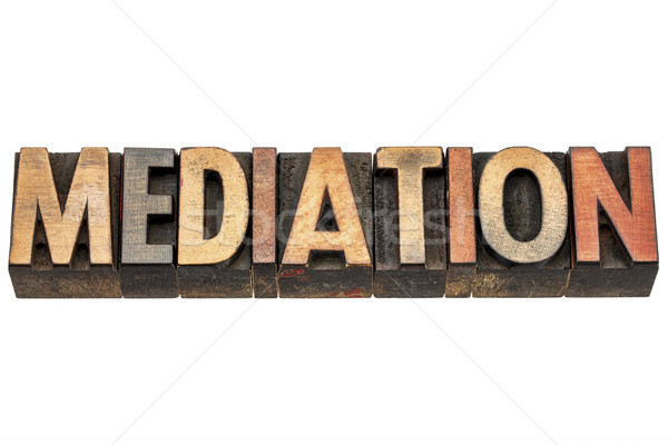 mediation, word in wood type Stock photo © PixelsAway