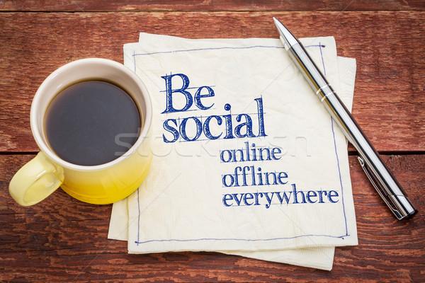 Be social online and offline Stock photo © PixelsAway