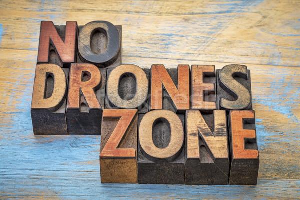 No drones zone sign or banner Stock photo © PixelsAway