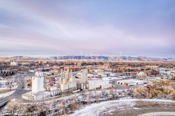 砦 景観 タウン コロラド州 冷たい 冬 ストックフォト © PixelsAway
