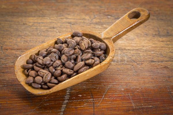 Schep koffiebonen rustiek grunge verweerde Stockfoto © PixelsAway