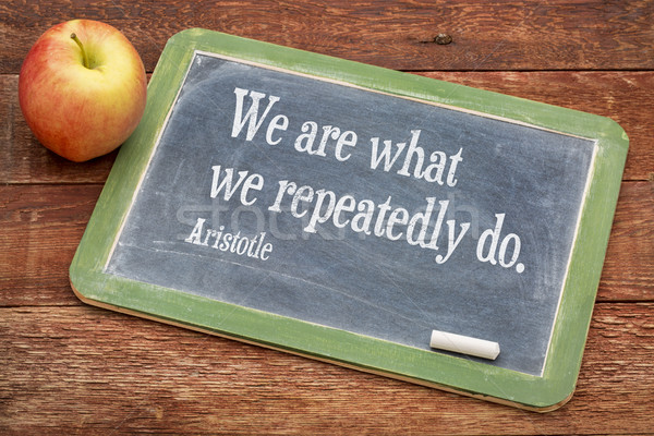 We are what ... Aristotle quote Stock photo © PixelsAway