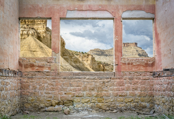 Book Cliffs through windows Stock photo © PixelsAway