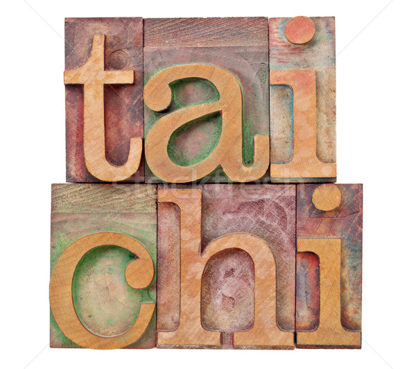 tail chi in letterpress type Stock photo © PixelsAway