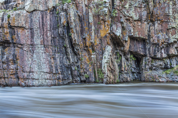 rock cliff and whitewater river Stock photo © PixelsAway