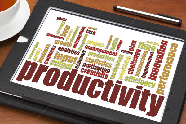 productivity word cloud  Stock photo © PixelsAway