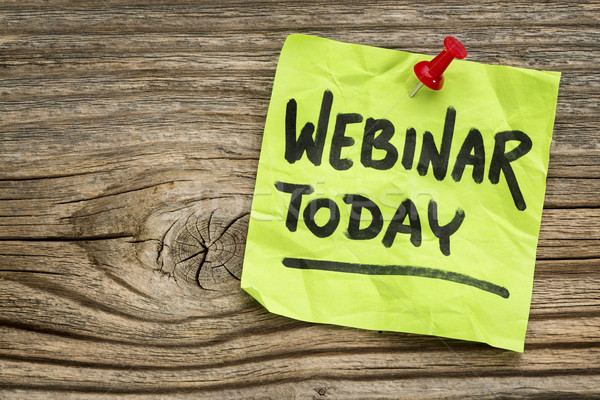 webinar today reminder note Stock photo © PixelsAway
