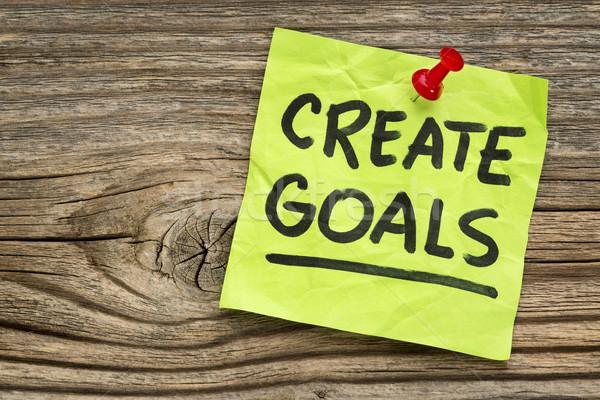 create goals reminder Stock photo © PixelsAway