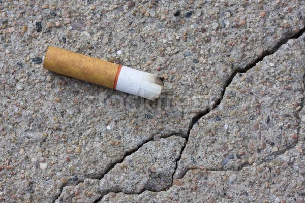 cigarette butt on a sidewalk Stock photo © PixelsAway