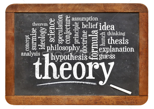 theory word cloud on blackboard Stock photo © PixelsAway