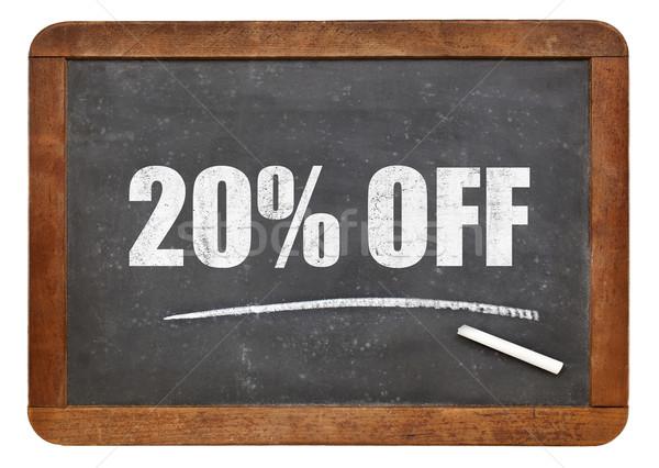 twenty percent off blackboard sign Stock photo © PixelsAway