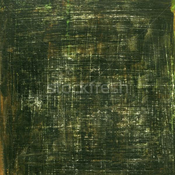 Siyah yeşil soyut beyaz el boyalı Stok fotoğraf © PixelsAway