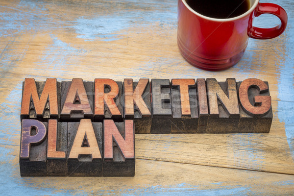 marketing plan in wood type Stock photo © PixelsAway
