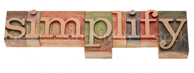 Stock fotó: Szó · magasnyomás · klasszikus · fából · készült · nyomtatás