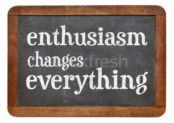 Enthusiasm changes everything Stock photo © PixelsAway