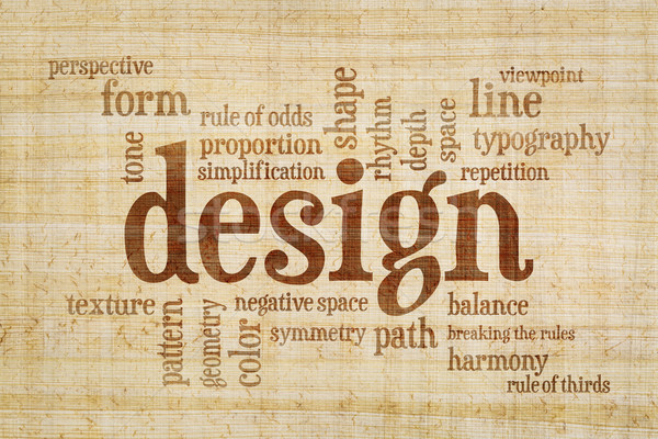 design elements and rules word cloud Stock photo © PixelsAway