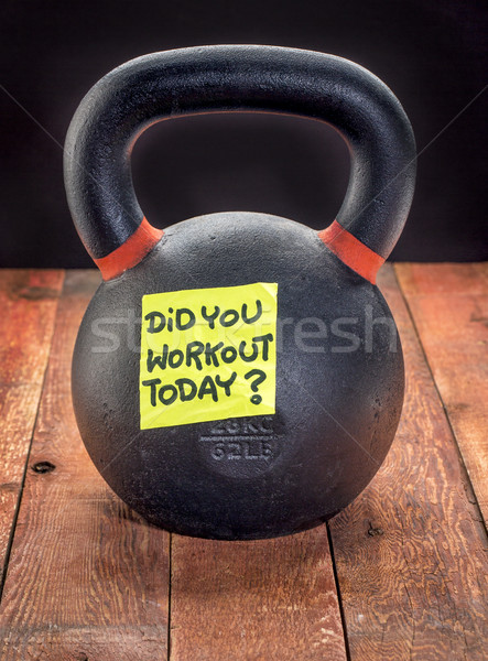 heavy iron kettlebell - workout reminder Stock photo © PixelsAway