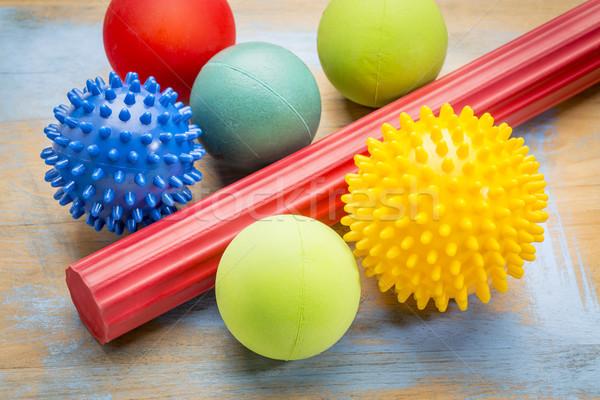 self massage and reflexology therapy balls Stock photo © PixelsAway