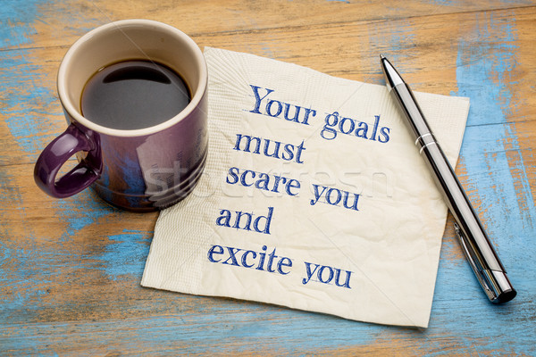 Your goals must scare and excite you Stock photo © PixelsAway