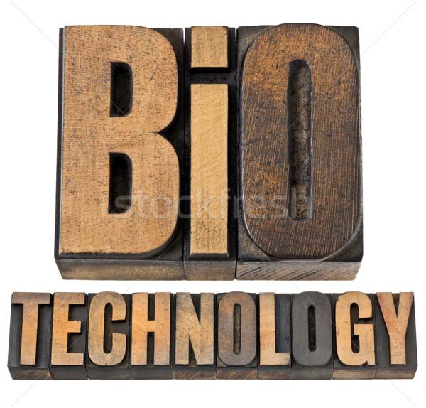Bio технологий древесины тип biotech изолированный Сток-фото © PixelsAway