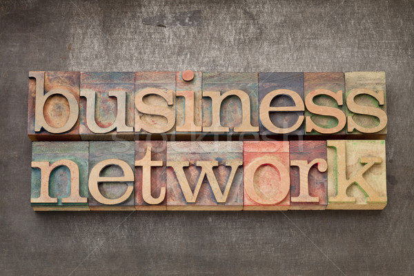 business network in wood type Stock photo © PixelsAway