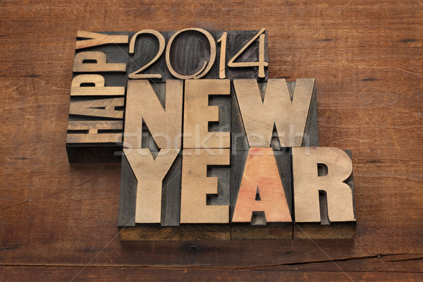 Stok fotoğraf: Happy · new · year · 2014 · metin · bağbozumu