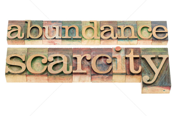 abundance and scarcity Stock photo © PixelsAway