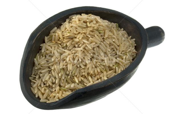 scoop of long grain brown rice Stock photo © PixelsAway