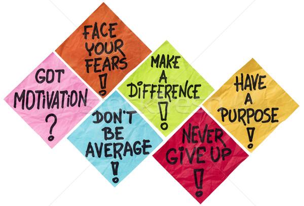 Motivação lembrete notas cara diferença Foto stock © PixelsAway