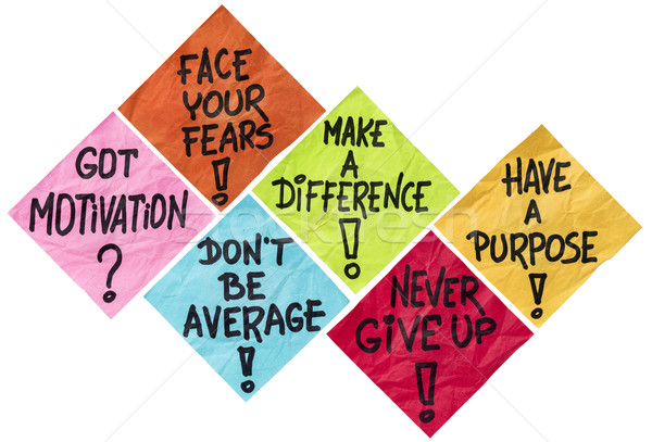 Stock photo: motivation reminder notes