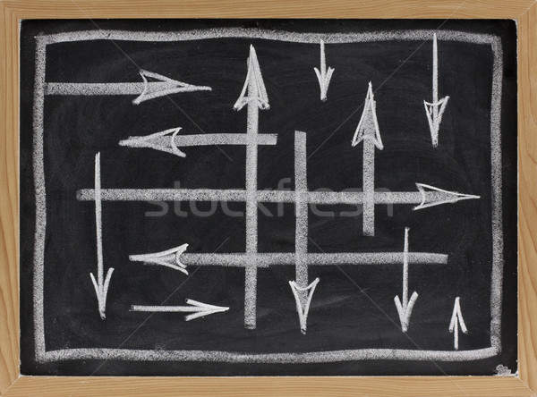 random directions - vector abstract on blackboard Stock photo © PixelsAway