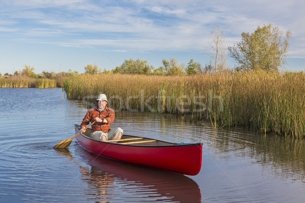 afternoon canoe paddling Stock photo © PixelsAway