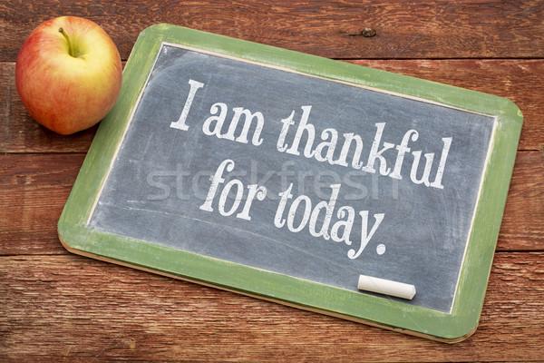 Délelőtt hálás ma pozitív szavak iskolatábla Stock fotó © PixelsAway