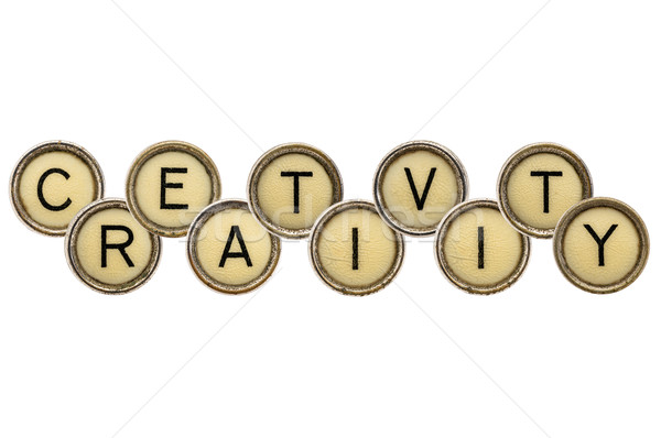 creativity word in typewriter keys  Stock photo © PixelsAway