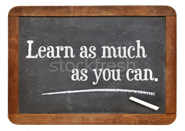 Learn as much as you can Stock photo © PixelsAway