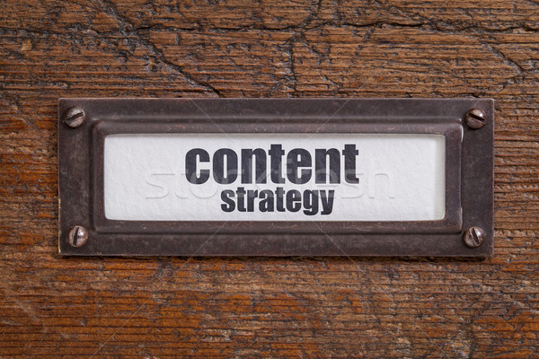 content strategy - file cabinet label Stock photo © PixelsAway