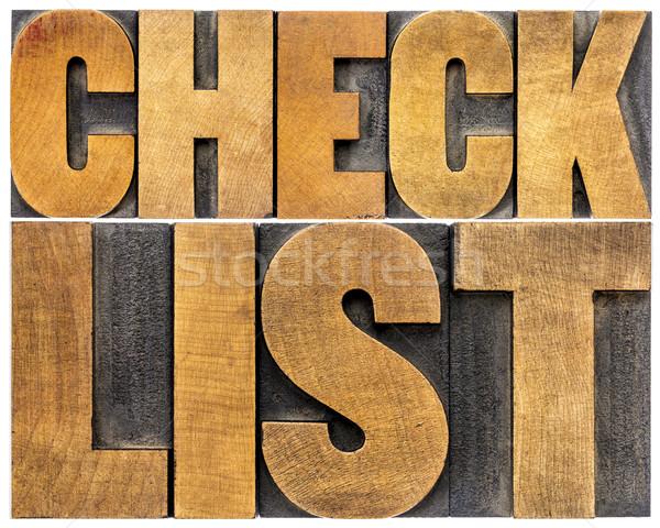 checklist word typography Stock photo © PixelsAway