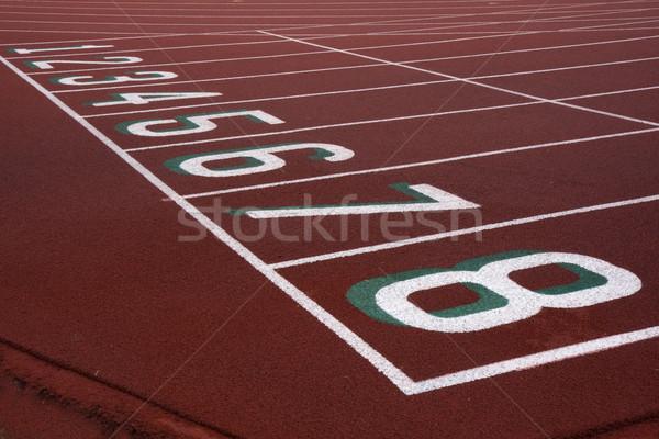 Zdjęcia stock: Uruchomiony · numery · czerwony · jeden · sportu · szkolenia