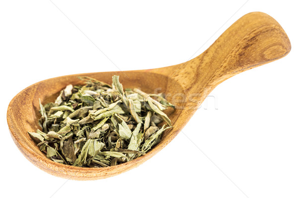 stevia dried leaves on wooden spoon Stock photo © PixelsAway