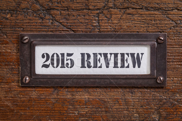 2015 akta faliszekrény címke fából készült év Stock fotó © PixelsAway