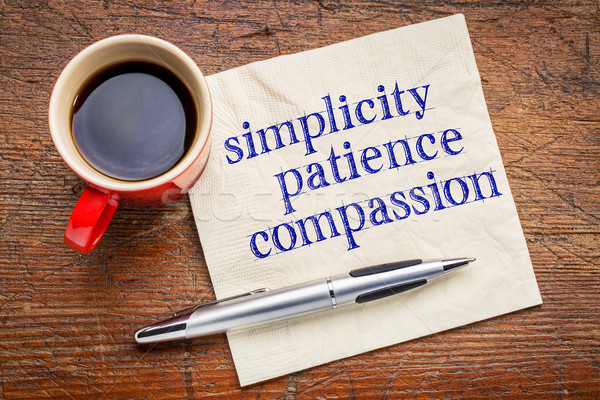 simplicity, patience, and compassion  Stock photo © PixelsAway