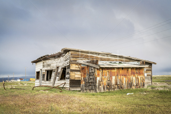 Edad tienda gasolinera abandonado ciudad muerta edificio Foto stock © PixelsAway