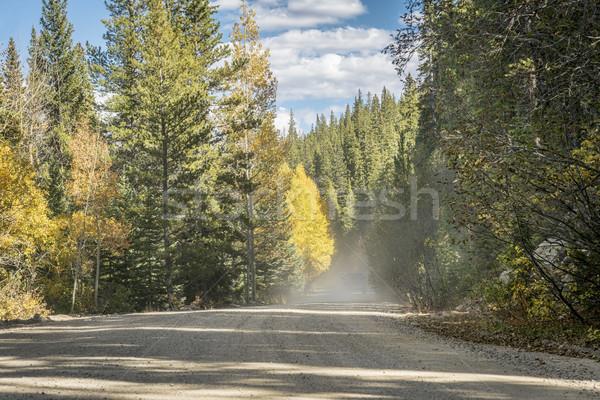 Stoffig weg Colorado hoog land Stockfoto © PixelsAway