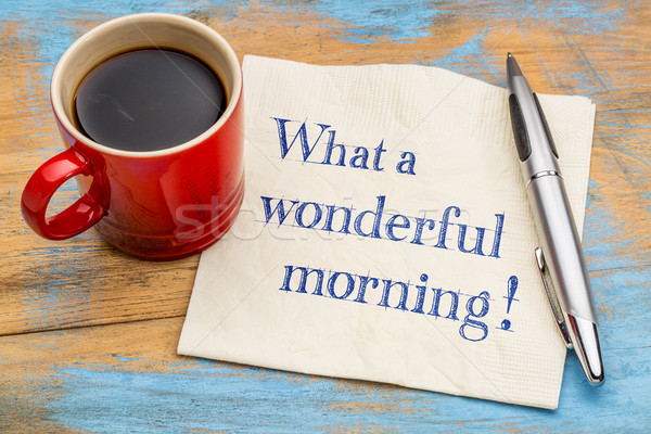 何 素晴らしい 午前 ナプキン 注記 手書き ストックフォト © PixelsAway