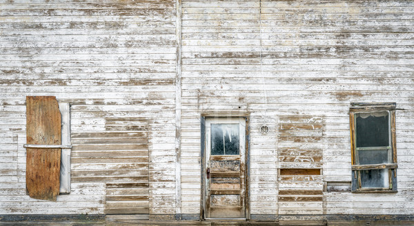 front facade of old abandoned building  Stock photo © PixelsAway