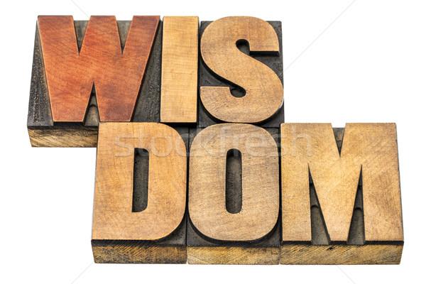 wisdom word abstract in wood type Stock photo © PixelsAway