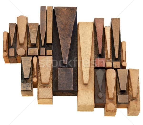 Alerta alerta establecer puntos vintage madera Foto stock © PixelsAway