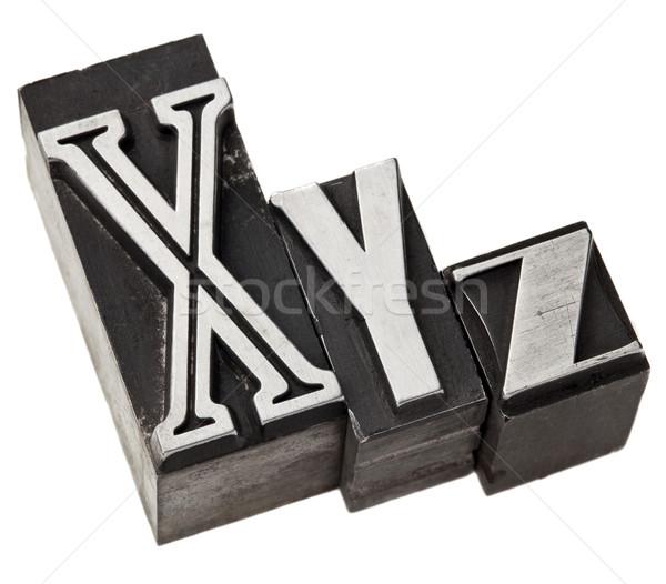 xyz letters in metal type Stock photo © PixelsAway